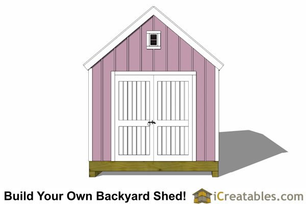 10x20 colonial shed plan front