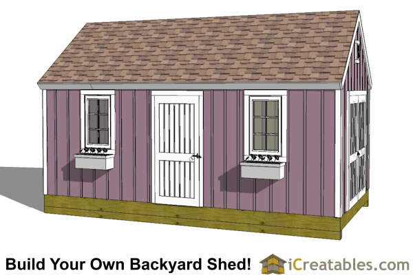 10x20 Colonial Garden Shed Plans