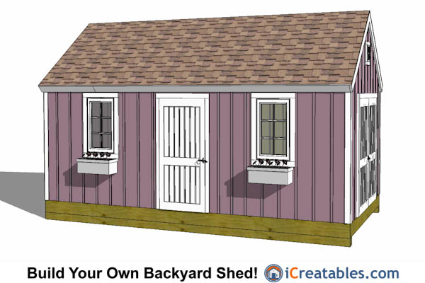 10x20 colonial shed