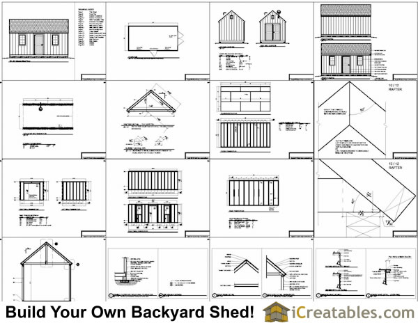 10x20 Colonial Garden Shed Plans Example