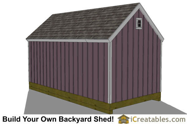 10x20 colonial shed plan top