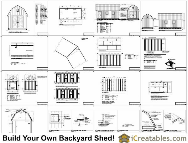10x20 gambrel shed plans