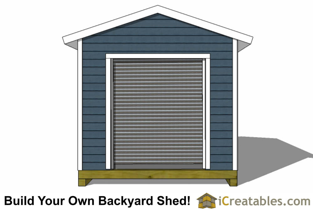 10x16 shed plans with garage door elevation