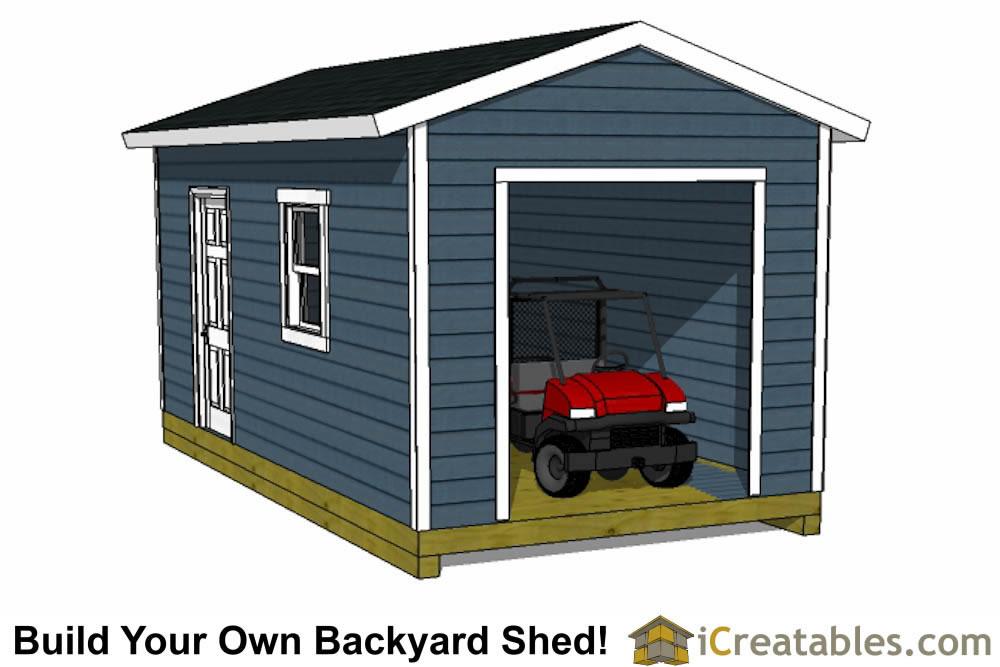 Garage shed plans buy diy detached garage designs today for 10x11 garage door