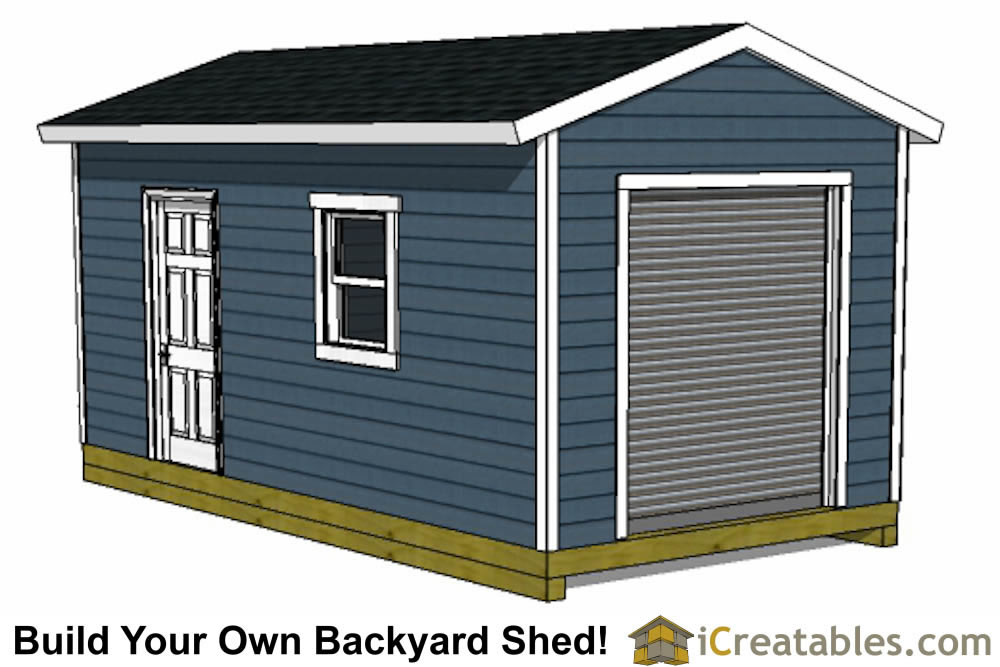10x16 shed plans with garage door