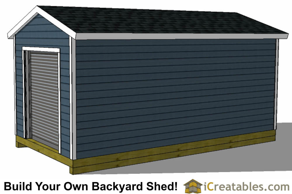 10x16 shed plans with garage door right side