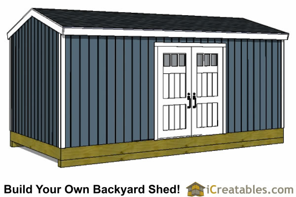 10x20 backyard shed side door option