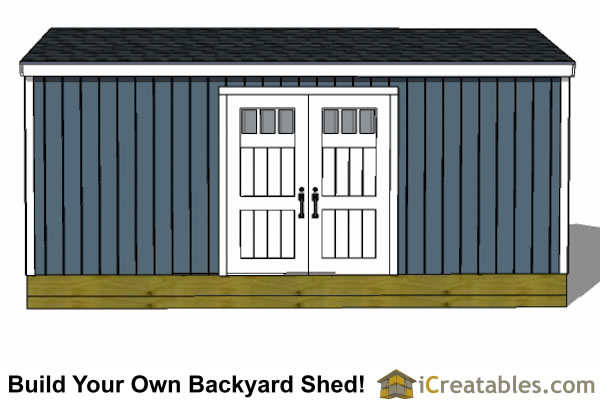 10x20 backyard shed side door