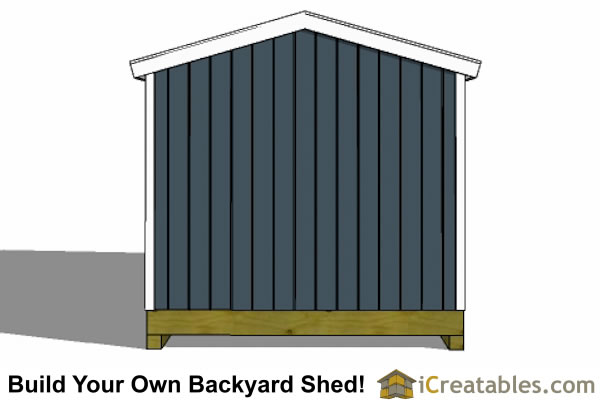 10x20 gable shed end wall