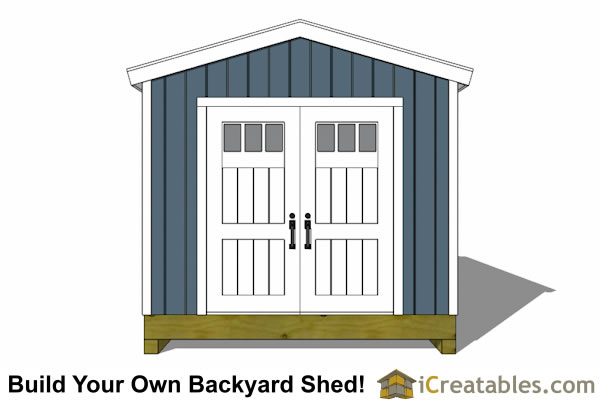 10x20 gable shed end with doors