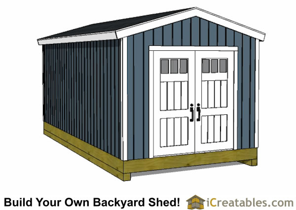 10x20 backyard shed front view