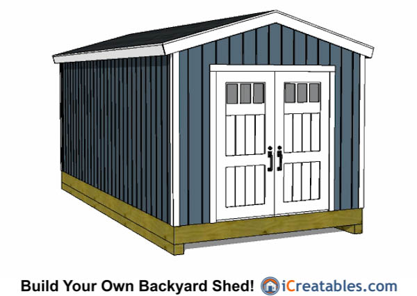 10x20 gable shed