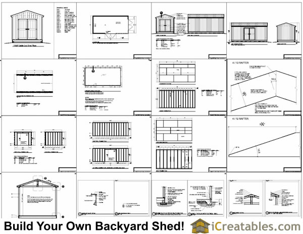 10x20 backyard shed plans