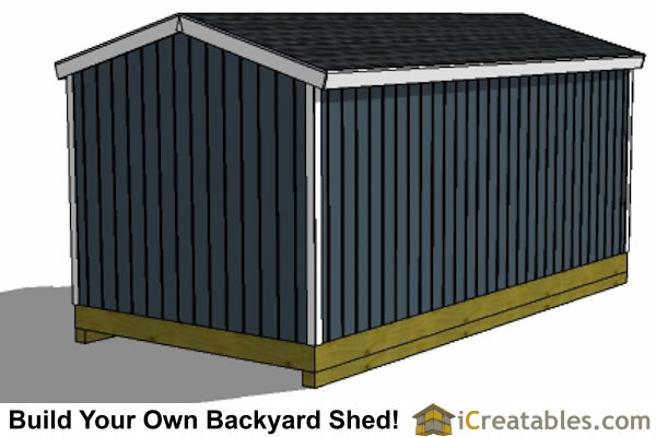 10x20 Backyard Shed Plan Rear ...