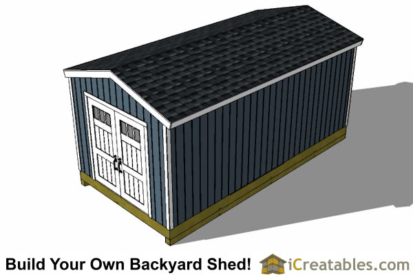... 10x20 Gable Shed Top View
