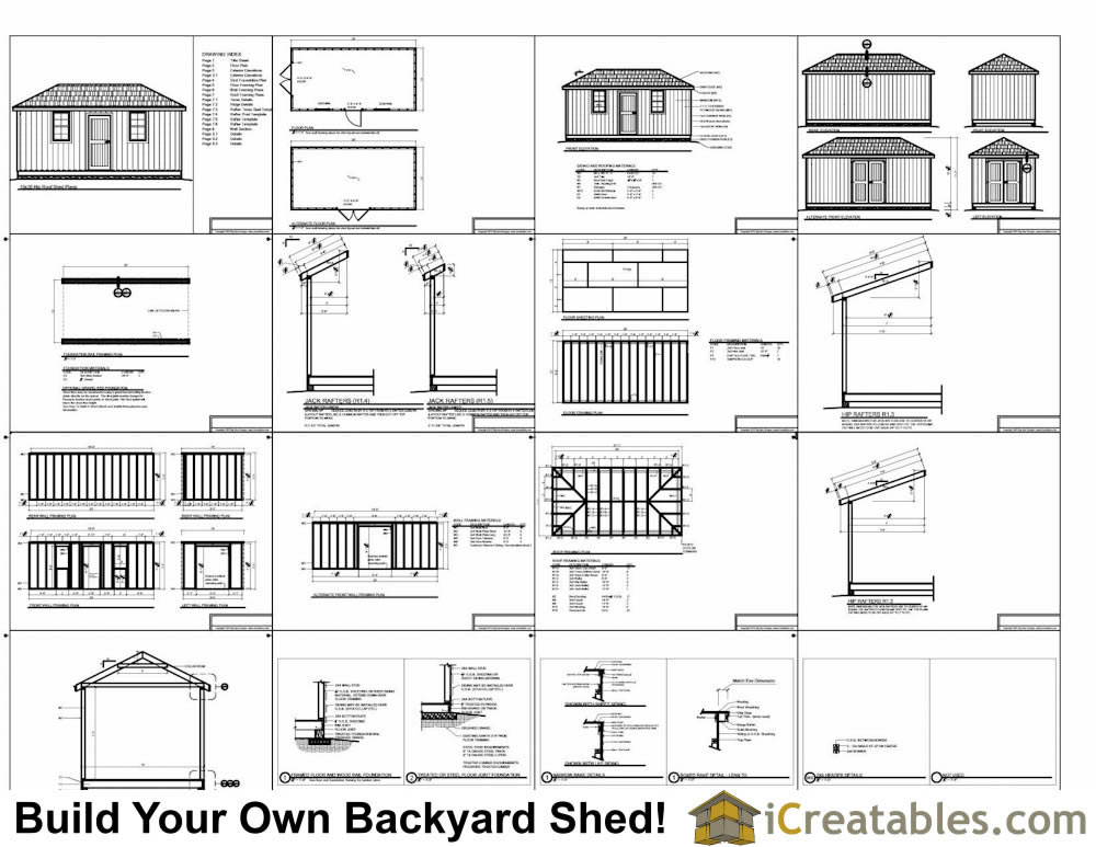 10x20 Hip Roof Shed Plans example