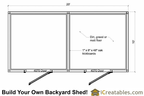 Garden sheds barn plans for 2 horses for 10 stall horse barn floor plans