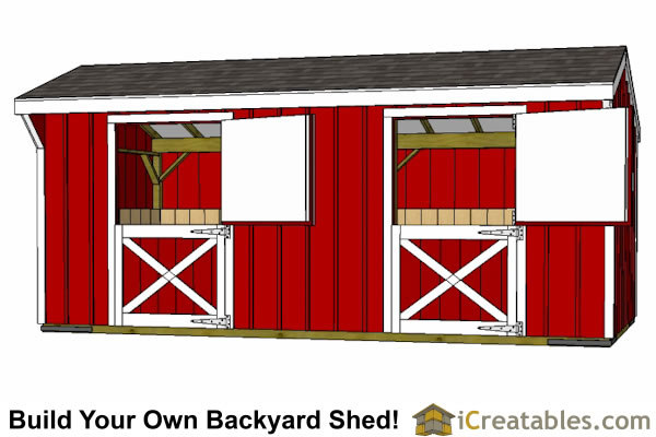 2 stall horse barn plans 2 horse barn plans for Dutch barn shed plans