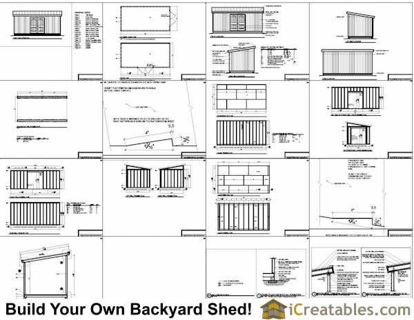 10x20 lean to shed plans for Lean to house plans