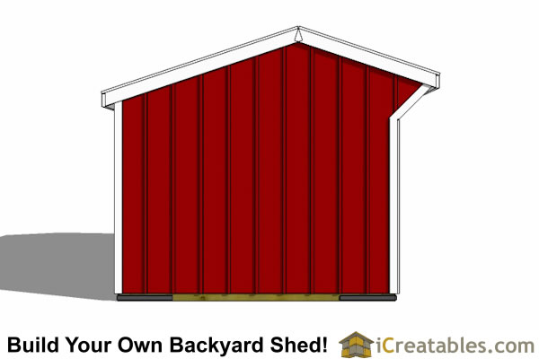 10x20 run in shed end