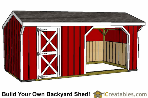 10x20 run in shed and tack room