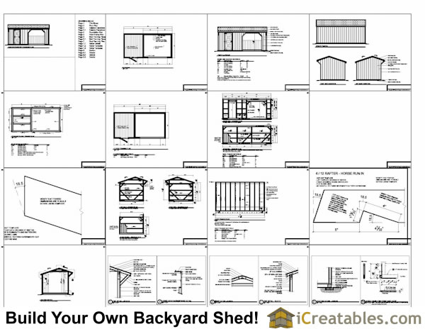 10x20 Run In with tack room plans