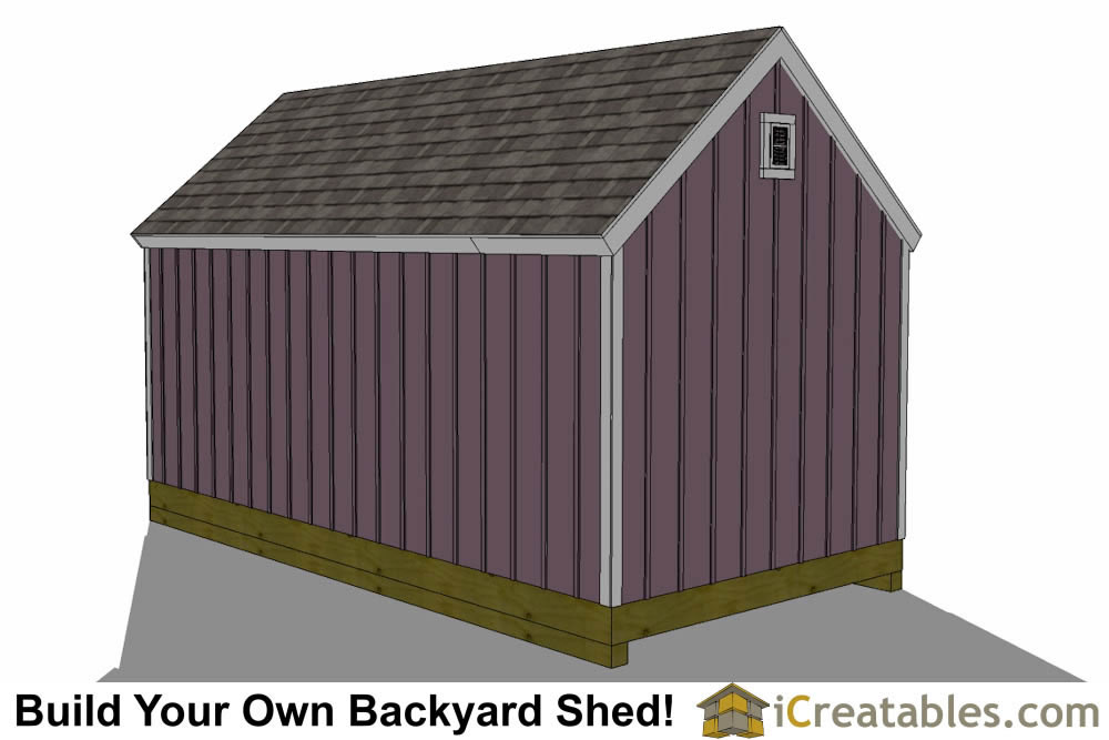 10x24 gardenl shed plan front