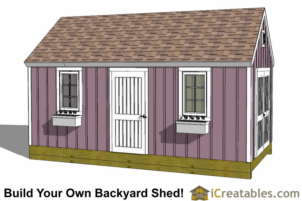10x24 colonial garden shed plans for Colonial shed plans