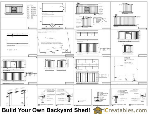 10x24 lean to shed plans
