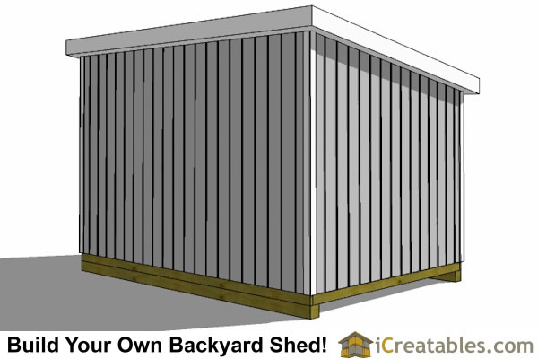 10x24 lean to shed rear