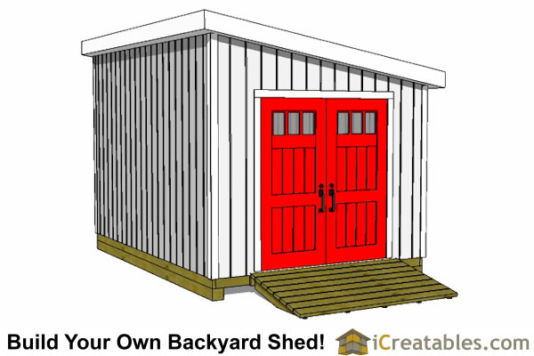 10x24 lean to shed plans door on angled