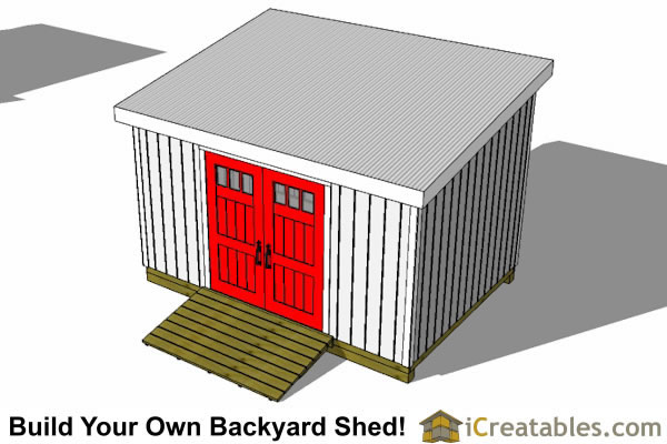10x24 lean to shed top
