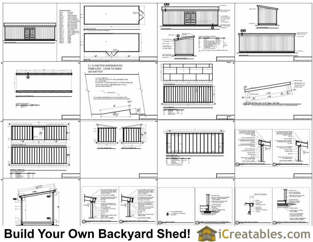 10x30 lean to shed plans