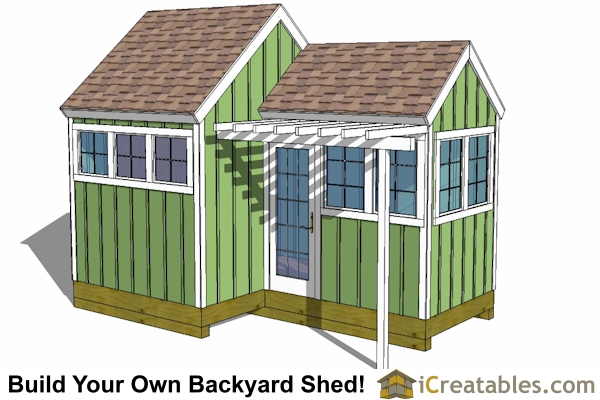 12x8 8x8 garden shed plans with trellis for 10 x 8 shed floor plans