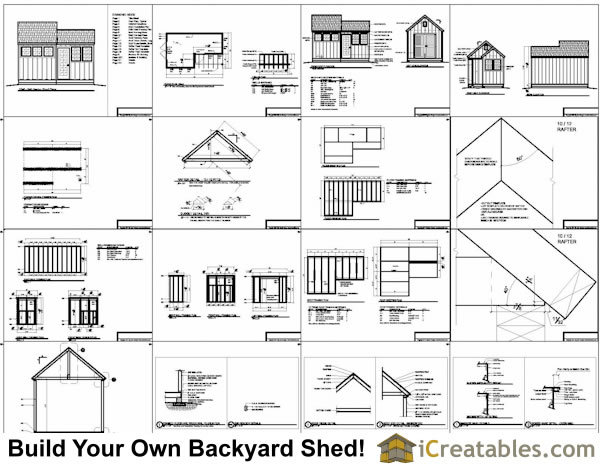 10x8-6x8 shed plans example