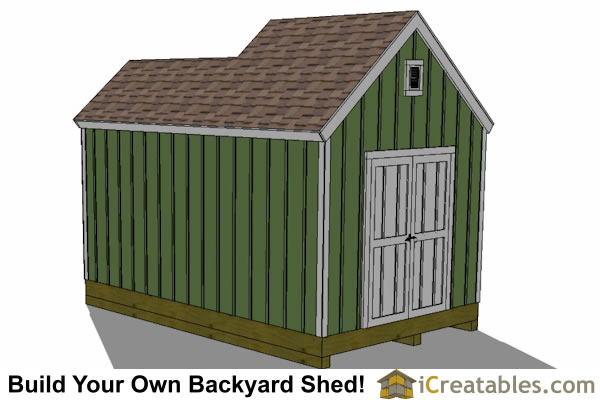 10x8 6x8 garden shed plan rear