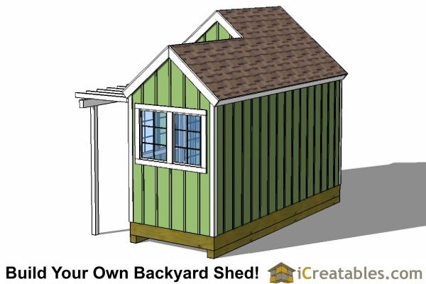 10x8-6x8-garden -shed-plan-rear