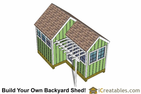 10x8 6x8 garden shed plans for Tops garden buildings