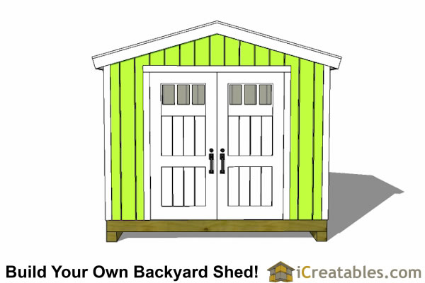 10x8 shed front elevation