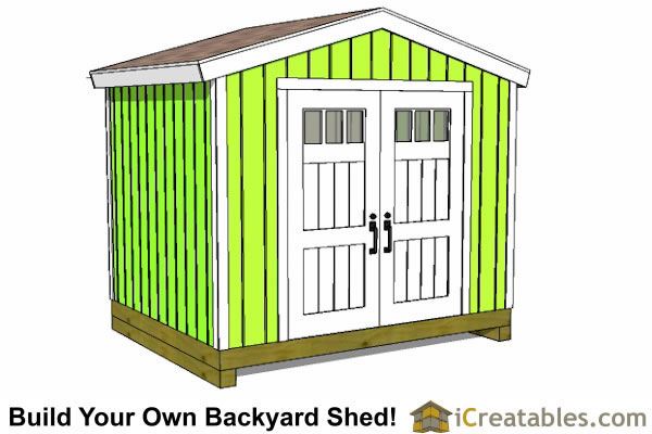 Garden Sheds 10 X 8 10x8 shed plans | 10' wide8' deep shed plans