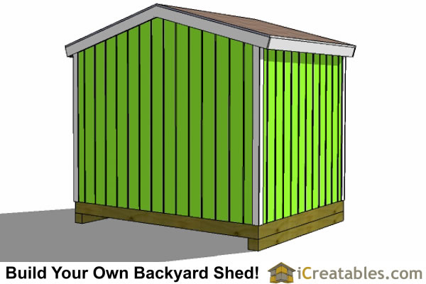 10x8 shed left rear