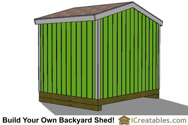 10x8 shed right rear view
