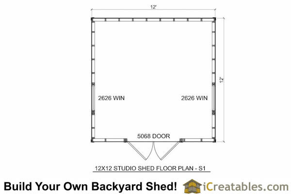 12x12 modern shed plans 12x12 office shed plans studio for 12x12 deck plans