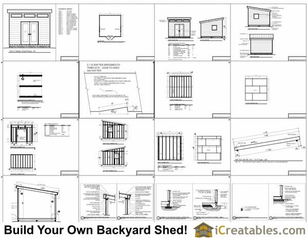 12x12 Modern Shed Plans