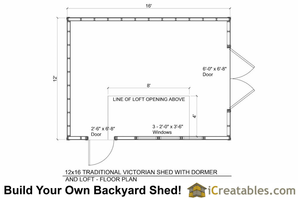 12x16 shed plans with dormer Dormer floor plans