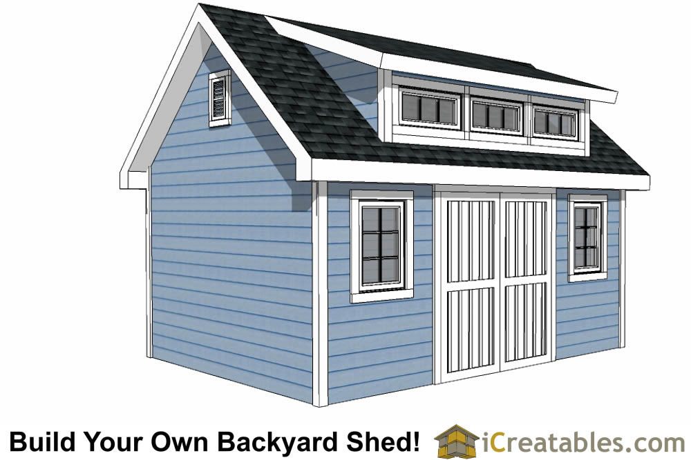12x16 Storage Shed Plans : Shed plans with dormer icreatables