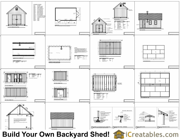 12x20 Traditional Victorian Style Storage Shed Plans