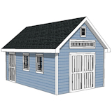 12x16 modern shed plans