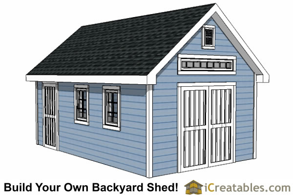 12x16 traditional victorian backyard shed plans for Outside buildings design