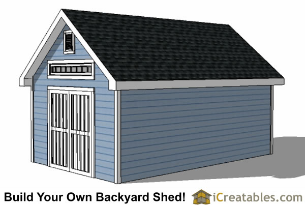 12x20 Traditional Victorian Style Storage Shed Plans right side